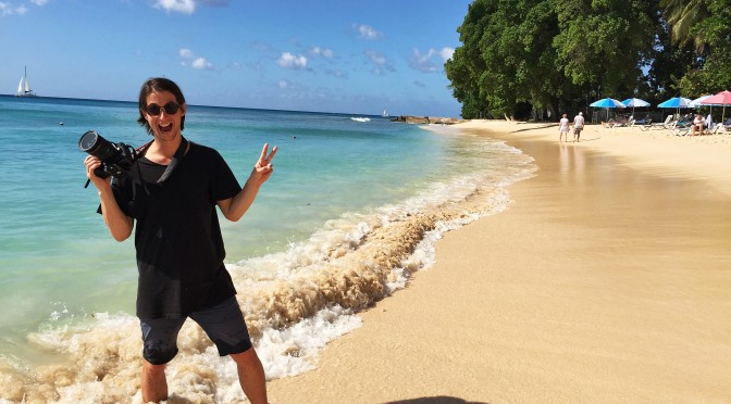 Filming in Barbados